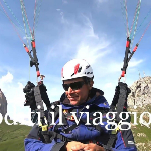 How to finish a day of work in style? Tandem paragliding flight over the Val di Fassa !!