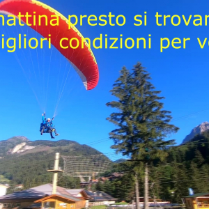 The best time to paraglide