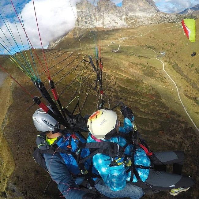 Glided flight in Val di Fassa