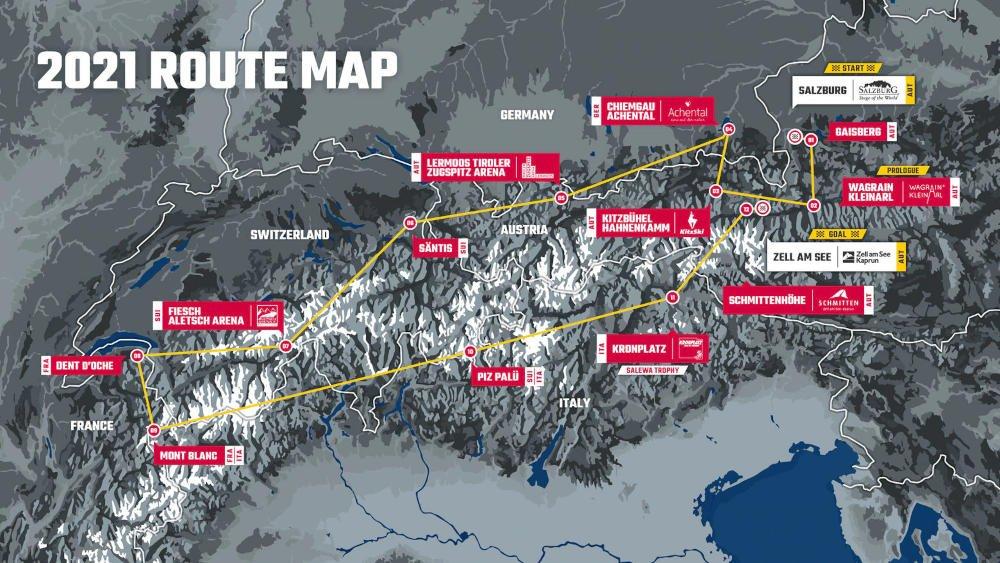 Traccia Red Bull X Alps 2021